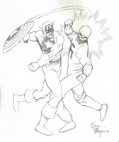 Captain America vs. the Red Skull : Kevin Maguire Comic Art