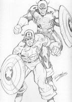 Captain America and the USAgent: Ron Lim Comic Art