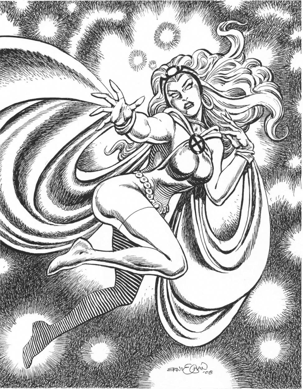 Storm : Ernie Chan Comic Art