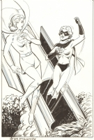 Supergirl and Ms. Marvel: Jim Mooney Comic Art