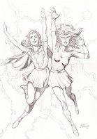 Marvel Girls: Geof Isherwood Comic Art