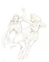 Mary Marvel vs. Supergirl : Ron Lim Comic Art