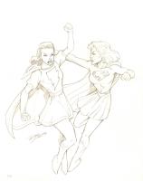 Mary Marvel vs. Supergirl : Ron Lim Comic Art