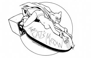Bombshell! Kitten : Gene Gonzales Comic Art