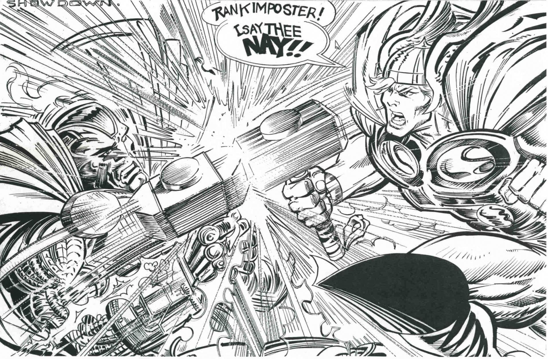 Showdown!  : Trevor Von Eeden / Josef Rubinstein Comic Art