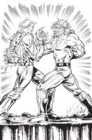 Paradox  : Herb Trimpe / Al Gordon Comic Art
