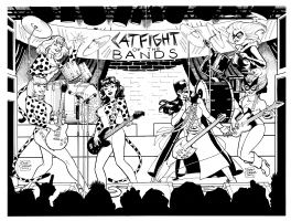Catfight of the Bands!  : Gene Gonzales Comic Art