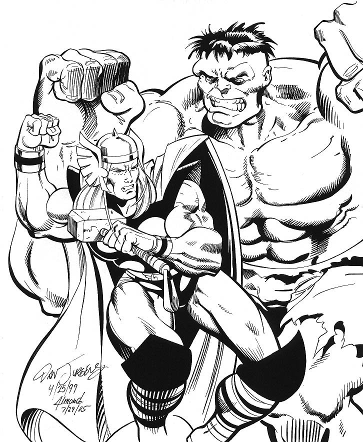 Thor vs. The Hulk: Dan Jurgens / Bob Almond Comic Art