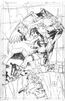 Lara Croft and Hawkgirl commission, Comic Art