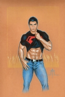 Super Sexy Brandon Routh Conner Kent Superboy by Michael McDaniel Comic Art