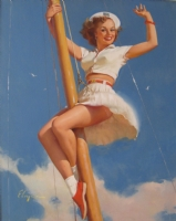 Gil Elvgren -  Anchors A-Wow  (1968) Comic Art