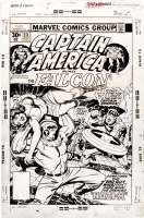 Jack Kirby - Captain America #211 Cover (1977) Comic Art