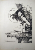 Jose Gonzalez - Vampirella #39 Frontispiece (Warren, 1975) Comic Art