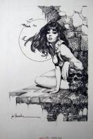 Jose Gonzalez - Vampirella #39 Frontispiece (Warren, 1975) Comic Art