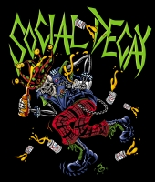 Social Decay Banner/T-Shirt Art, Comic Art