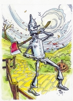 Tin Man - Wizard of Oz, Comic Art
