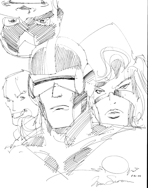 X Factor by Walter Simonson Comic Art
