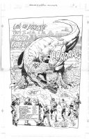 Splash page from Cadillacs & Dinosaurs Maneater #2 Comic Art
