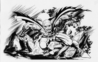 Jack Kirby Bluelined Demon. Comic Art