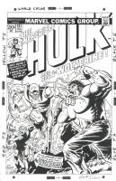 Incredible Hulk 181 Cover Recreation Comic Art