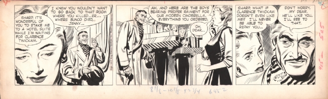 Rip Kirby 1954-01-25, Comic Art