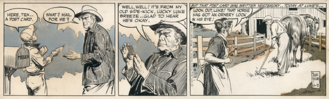 Rusty Riley 11-07-1955, Comic Art