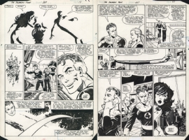 Fantastic Four 269 2-pager, Comic Art