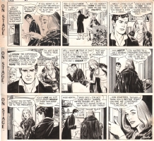 On Stage - Three Consecutive Dailies - 1965, Comic Art
