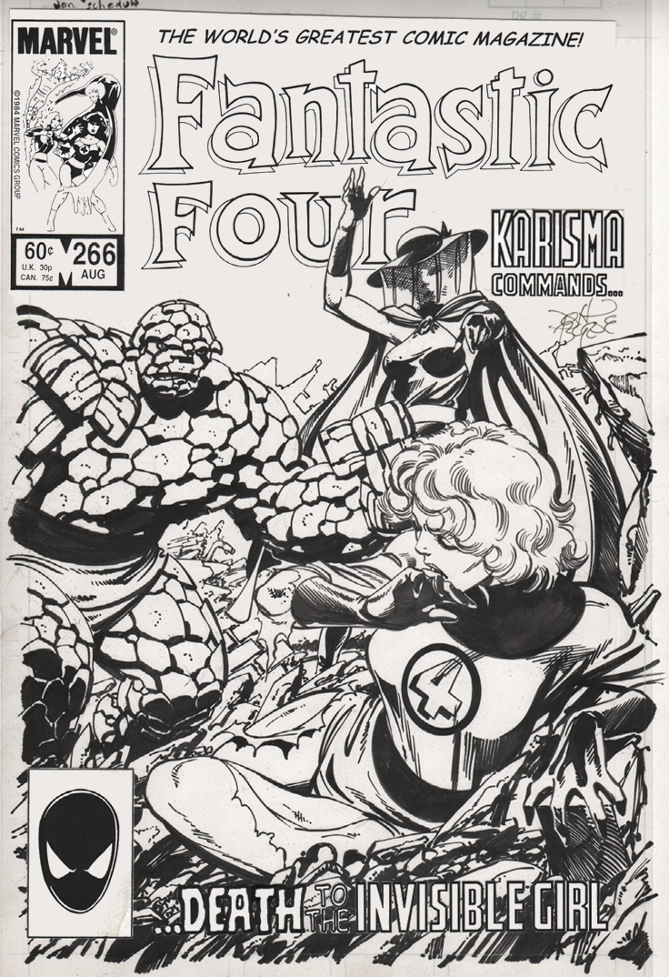 Fantastic Four 266 Cover Comic Art