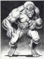 Art Adams Wolfman Pinup $$Offers, Comic Art