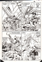 Fantastic Four 264, Page 13 Flame On! Battle $$Offers, Comic Art