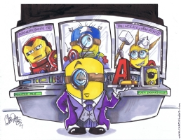 Minion Jarvis Comic Art