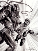 beast man and beast Boy, Comic Art