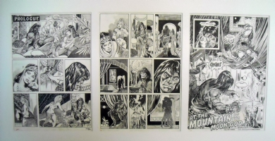 John Buscema Pablo Marcos - Original Art - Pages 1-3 of Savage Sword of Conan # 3 Comic Art