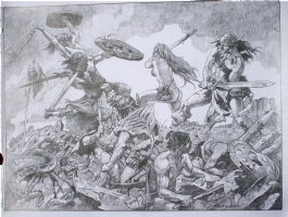 Sanjulian ~ Conan & Red Sonja HUGE original art! SOLD!! Comic Art