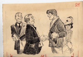 Illustration for El Diario de mi amiga Moira, 1956 Comic Art
