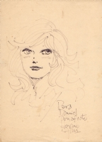 Horacio Altuna, 1979: Pampita (from El Loco Chavez) sketch. Comic Art
