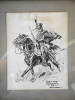 Jos� Luis Salinas, 1950: Soldier with horse made in New York. Comic Art