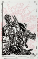 Michael Golden Punisher Armory #9 and Excess:The Art of Michael Golden Original Cover Art Comic Art