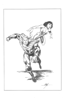 HARDCASE & CHOICE (Malibu Comics Ultraverse) Comic Art