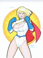 Power Girl by Amanda Connor. Comic Art