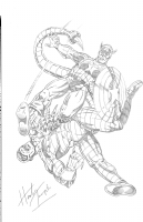 Captain America vs. The Scorpion by Herb Trimpe.  Comic Art