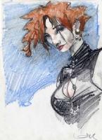 Femme - Crayons de couleur, Comic Art