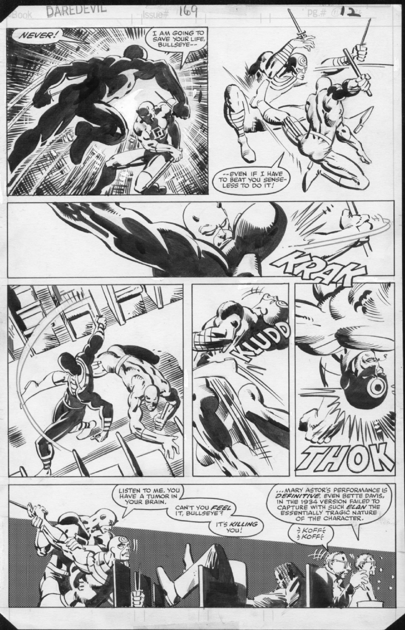 Daredevil #169, page 12 Comic Art