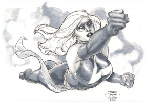 Ms. Marvel by Terry Dodson Comic Art