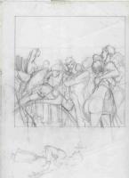Crayonn� pr�paratoire Troubles f�tes p71 Comic Art