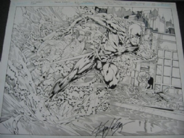 Flash Splash Comic Art