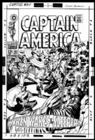 J. Kirby Cap #101 Comic Art