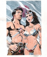 Bo Hampton - John Carter and Dejah Thoris Comic Art