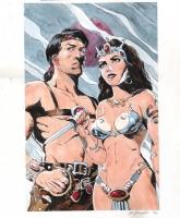 Bo Hampton - John Carter and Dejah Thoris Comic Art